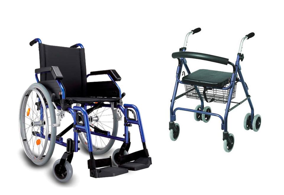 Ayudas Técnicas - Sillas de ruedas y andadores