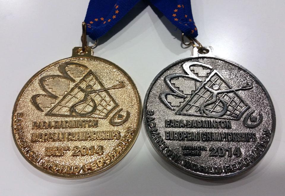Medallas de oro y plata en dobles e individual en los Campeonatos de Europa de Parabádminton