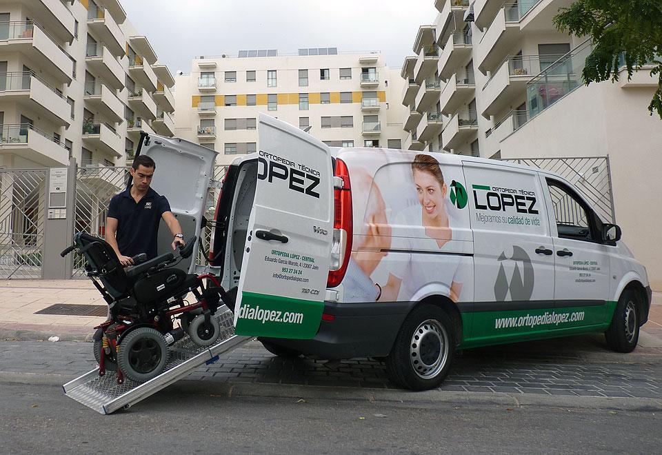 Servicio a domicilio de sillas de ruedas