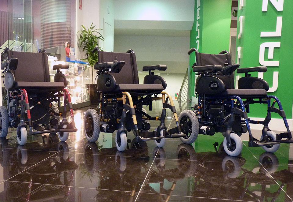 Variedad de sillas de ruedas