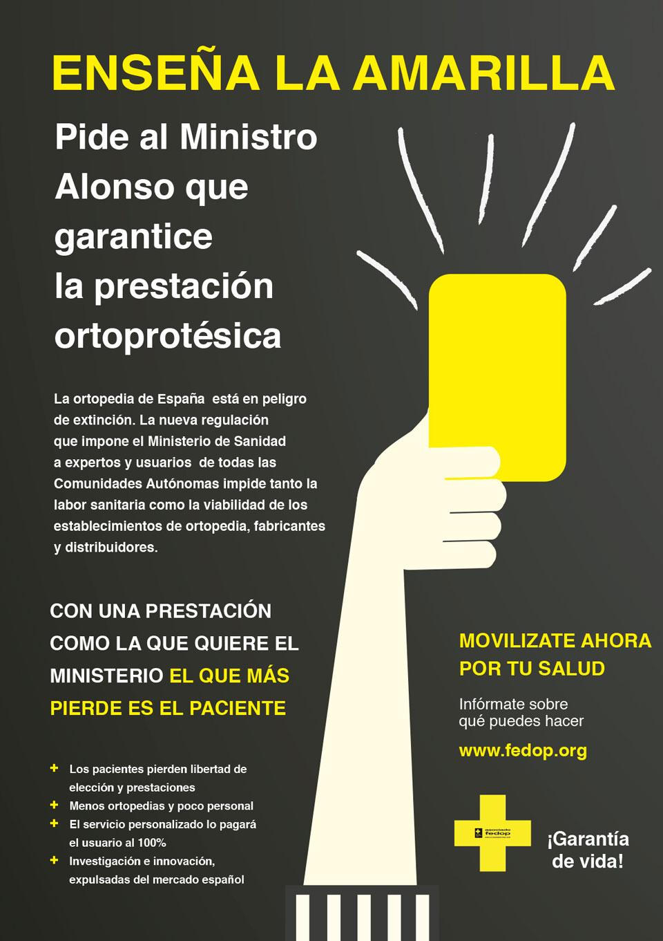 Pide al Ministro Alonso que garantice la prestación ortoprotésica