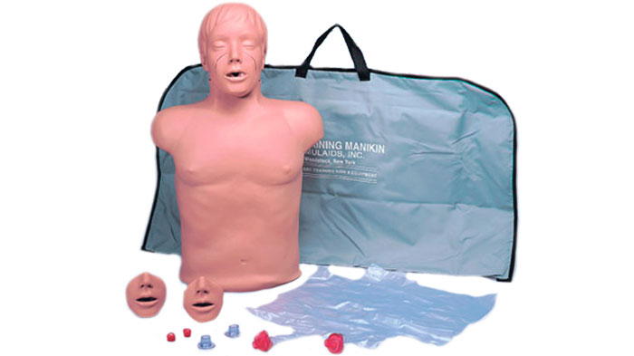 Simulador recuperación cardiopulmonar torso