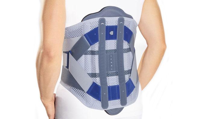 Ortesis Spinova Support Plus Clasicc multifuncional para la descarga dosificable y el respaldo de la columna vertebral lumbar y la parte inferior de la columna torácica con función de movilización.