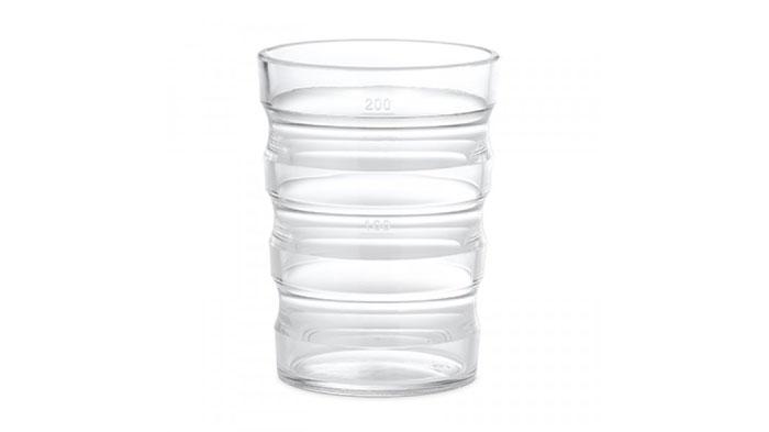 Vaso transparente sin tapa