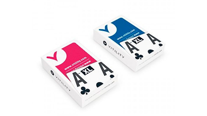 Juego de cartas extra visibles
