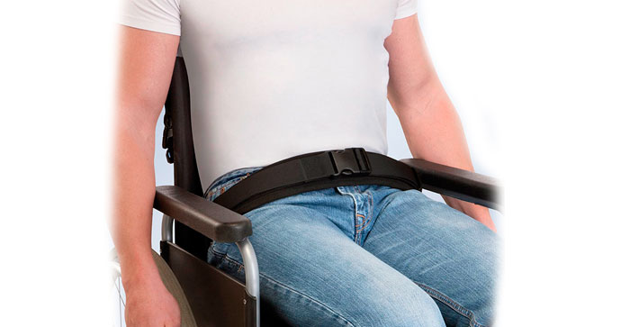 Cinturón pélvico cierre velcro-hebilla