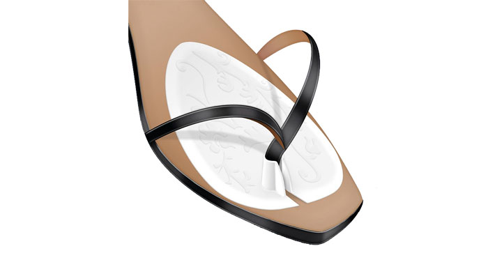 Almohadillas adhesivas para sandalias tipo esclavas