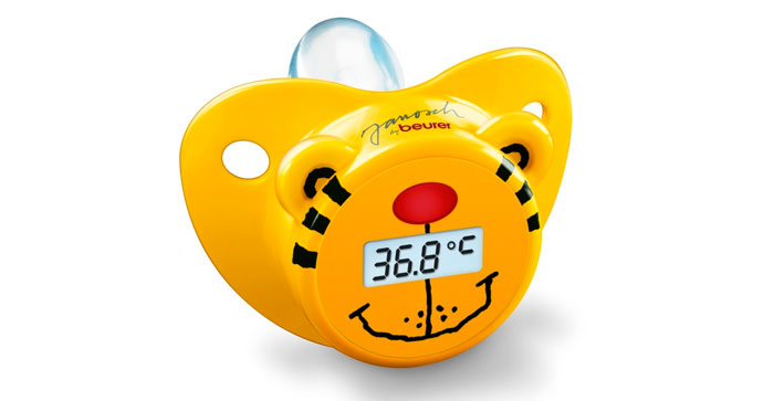 Chupete termómetro