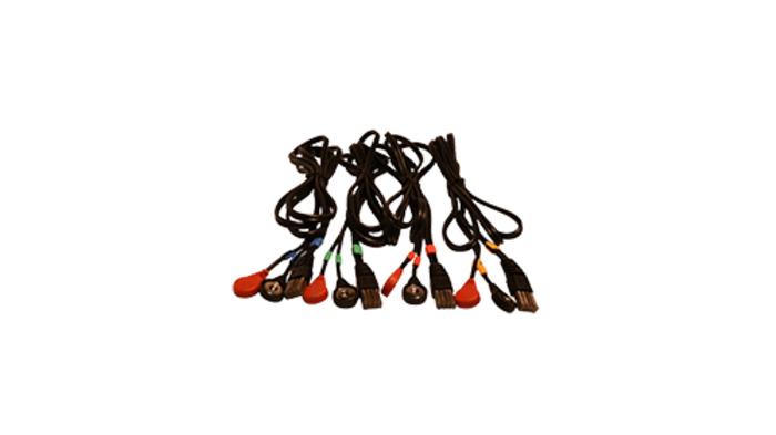 Juego 4 cables compex 8 Pins-Snap