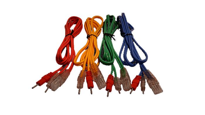 Juego 4 cables compex 8 Pins-Banana