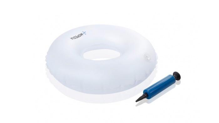 Cojín de plastico con agujero inflable