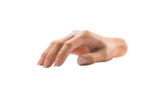 Epítesis parciales de silicona de dedo y mano